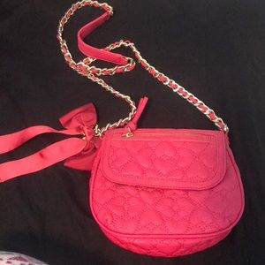 Never used Betsey Johnson pink crossbody purse